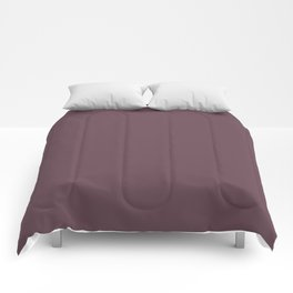 Dark Plum, Solid Color Collection Comforters