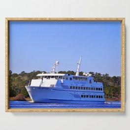 Front Of Gambling Ship Serving Tray
