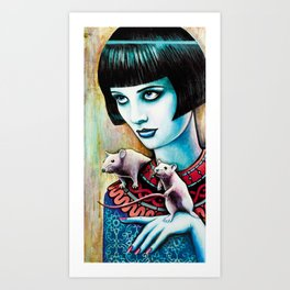 Diana and the Rats Art Print