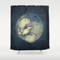 pagan Shower Curtains featuring Fly Me to the Moon by Nirvana.K