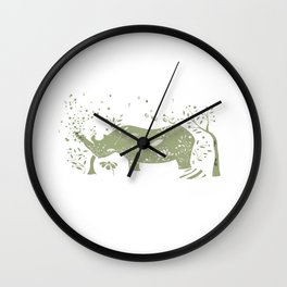Black Rhino Wall Clock
