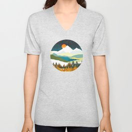 Winters Night Unisex V-Neck