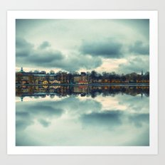 Stockholm upside-down Art Print