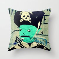 soldier Throw Pillows featuring soldier by very giorgious