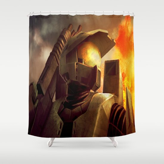 Epic Halo Spartan Shower Curtain