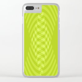 Green Intertwine Clear iPhone Case