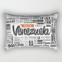 Venezuela Lettering Design - Black and white Rectangular Pillow