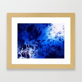 Blue Marble Dream Abstract Framed Art Print