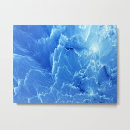 Blue mountains. Fractal pattern Metal Print