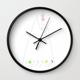 Indecisive girl Wall Clock