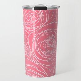 Pink Roses Travel Mug