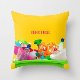 plastic DEE DEE Throw Pillow