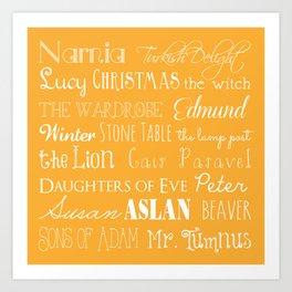 Narnia Celebration - Marigold Art Print