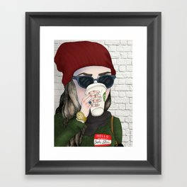 Hello My Name Is: Broke Bitch Framed Art Print
