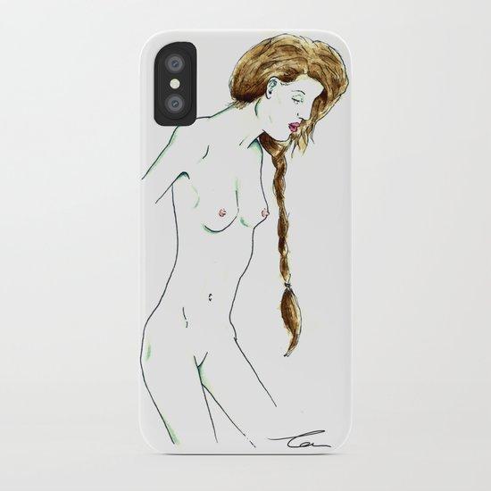 Plait Girl iPhone Case