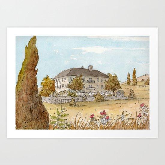 Sunday at the Chateau Art Print