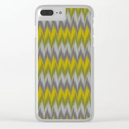 Ikat Chevron Clear iPhone Case