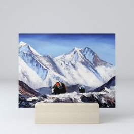 Black Yak On Everest Base Camp Mini Art Print