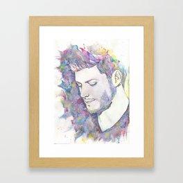 Jensen Ackles - Watercolor Framed Art Print