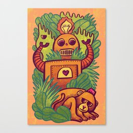 Watching Monkey Canvas Print