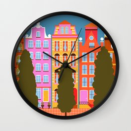 Wander the Streets Wall Clock
