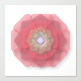 Pink Floral Meditation Canvas Print
