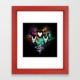 Chiptunes = Win: +1 Framed Art Print