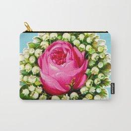 Retro Vintage Floral Bouquet Rose Lilies Carry-All Pouch