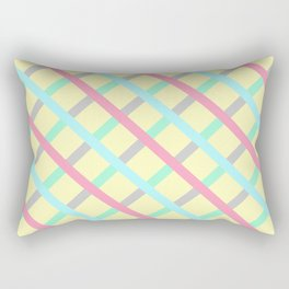 Abstract Geometic Pattern Square Grid Stripes multicolor Rectangular Pillow