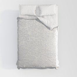 Embossed Powder & Pearl Lace Comforters