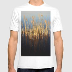 Water Reeds White MEDIUM Mens Fitted Tee