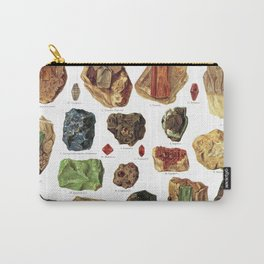 Vintage Gems And Minerals Carry-All Pouch