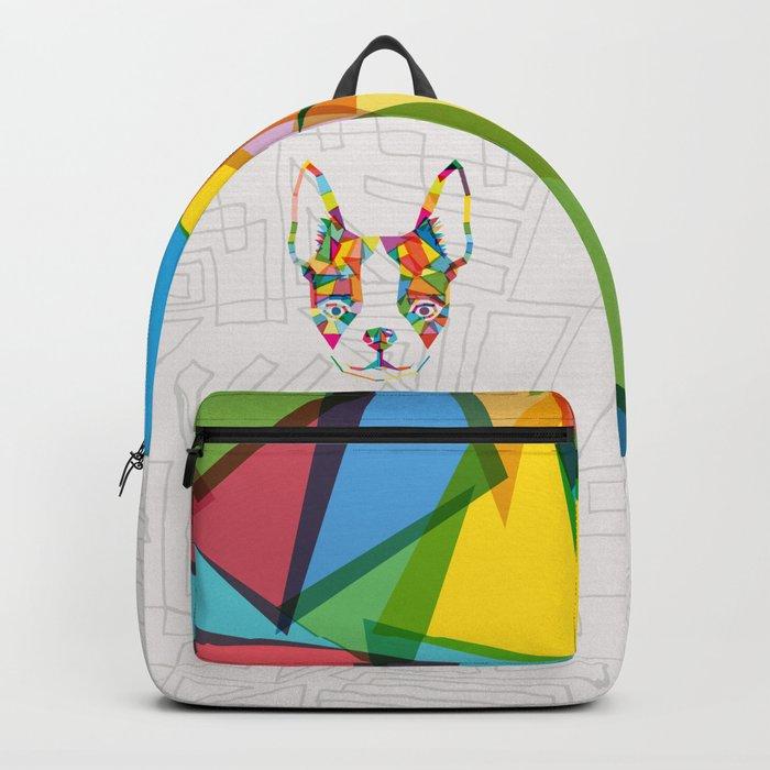 Rainbow Bulldog Backpack