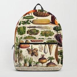 Adolphe Millot Vegetables Vintage Scientific Illustration Encyclopedia Illustration Lithograph  Backpack