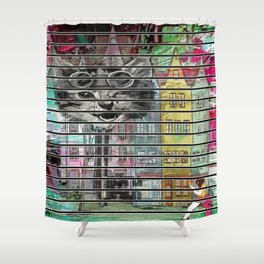 Alice Through The Cat House Shower Curtain