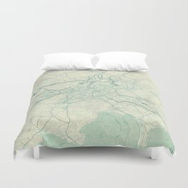 Bern Map Blue Vintage Duvet Cover