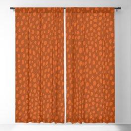 Burnt Orange Spots Blackout Curtain