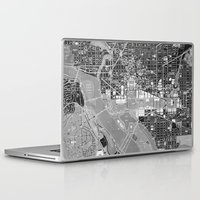 washington dc Laptop & iPad Skins featuring Washington DC Street Map by Color and Form
