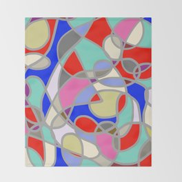 Stain Glass Abstract Meditation Painting 1 Throw Blanket