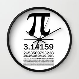 Pi Typography Art Wall Clock