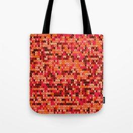 Melange knit textile 3 Tote Bag