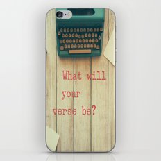 What will your verse be? iPhone & iPod Skin