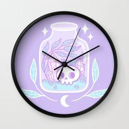 Pastel Terrarium Wall Clock