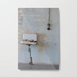 Old Sink Metal Print