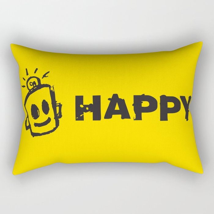 HAPPY  Rectangular Pillow