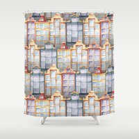 amsterdam Shower Curtains featuring  Amsterdam by Julia Badeeva