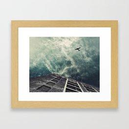 Boston [Sky cut 414] Massachussets, Usa Framed Art Print