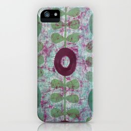 Zinnias in Purple and Green iPhone Case