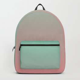 Pink to green gradient Backpack