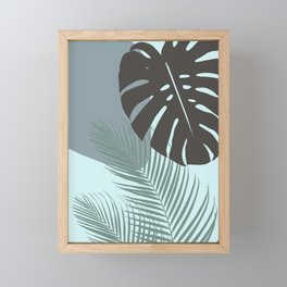 Minimal Monstera Palm Finesse #2 #tropical #decor #art #society6 Framed Mini Art Print